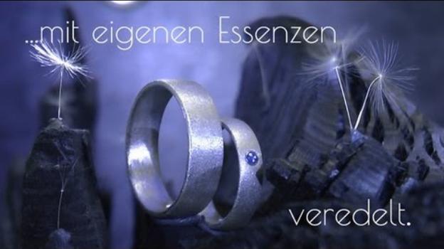 Einzigartige Eheringe aus der Schweiz: Elfenmetall und Safir (F2)